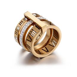 2019 búho bolsas de regalo de navidad amantes de diseño nuevo oro titanio acero de la marca del anillo de bodas para las mujeres de lujo Zirconia anillos de compromiso joyería de los hombres regalos Accesorios de Moda