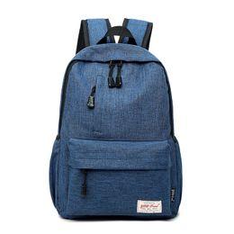 Canada Nouvelle coréenne étudiante sac personnalisé logo imprimé simple sac à dos décontracté sac à dos de voyage en plein air sac fourre-tout Offre