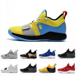 fd2f87cdaabf quality PG 2.5 University Red Opti Yellow Men Basketball Shoes Racer blue  White Black Wolf Grey Mens Paul George sports sneakers paul shoes deals