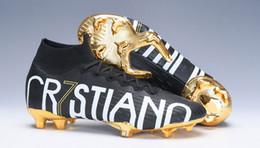 sapatos de futebol para crianças Desconto Crianças Arco-íris Superfly Elite CR7 SE FG VI 360 LVL UP Ronaldo Mens XII 12 Chuteira de Futebol Das Mulheres Meninos Botas de Futebol Botas de Futebol