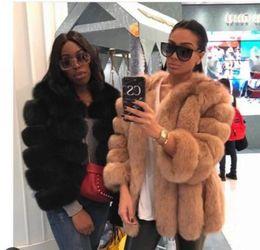 Меховые полоски онлайн-Classsic Fashion Bloggers lovely real Fur coats luxury Strip design IMPORTED Finland Genuine  Fur jackets women plus size