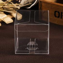macaron caixa clara Desconto 10 pçs / lote 3x3x3 cm 4x4x4 cm caixa de presente de pvc claro quadrado macaron caixa de embalagem de plástico transparente casamento para cupcake macaron