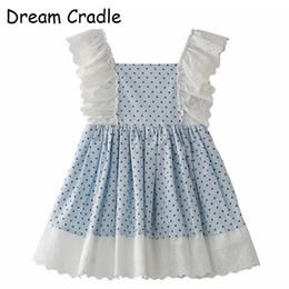 Mädchen traumkleid online-Dream Cradle Spain Kids Babykleidung Spanish Girls Dress / Lace, Tupfen, Baumwolle J190706