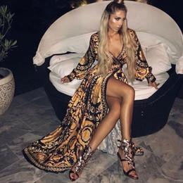 Yaz Elbise Kadınlar Için Plaj Gezileri 2019 Aşınma Nokta Qiu Dong Yeni Baskı Boyun Asetat Sierra Surfer Kaftan Elbiseler Mayo bayanlar nereden en kısa seksi iç çamaşırı tedarikçiler