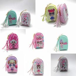 Giocattoli magici per le ragazze online-7Styles Dolls Giocattoli per bambini portafoglio Unicorno moneta magica della borsa hangbag ragazze del fumetto borse di stoccaggio borse con nappa pendente regali borsa FFA2292