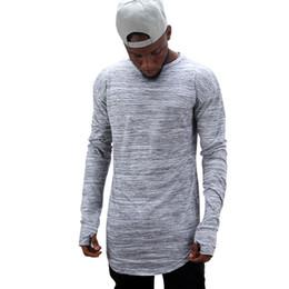 2019 maillots de corps hommes Tee-shirt à manches longues pour hommes Hipster Hip Hop avec trou pour le pouce Printemps Automne Essentials Undershirt promotion maillots de corps hommes
