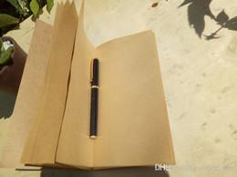 Organizador de la libreta online-Vintage kraft notebook organizador de viajes trabajo llevar planificador diario cuaderno creativo kraft cover notepad envío gratis