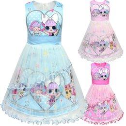 2019 puppen baby designe kleider sommer niedlich baby mädchen tutu rock mädchen hochwertigen prinzessin rock gaze kinder kleid urlaub kleid von Fabrikanten
