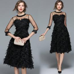 Argentina Mujeres de lujo vestidos de fiesta por la noche Nueva llegada 2019 Primavera Moda borla O-cuello Elegante Negro Vestidos de mujer dama elegante Vestidos de bola Suministro