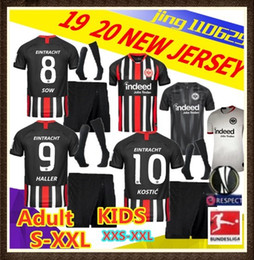 Ligue de football thai en Ligne-Kit enfants adultes Thai qualité 2019 2020 Maillots de football Eintracht Frankfurt 19 20 Frankfurt Europa League HALLER KOSTIC REBIC