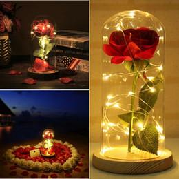 2019 ewiges rosengeschenk 1pc Schöne Ewige Rose LED-Licht Rose im Glaskuppel Zum Valentinstag der Mutter oder Weihnachten Geschenk günstig ewiges rosengeschenk