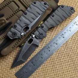 2019 mejores cuchillos pequeños manija Y-START SMF Cuchillo plegable táctico Titanium D2 Tanto bola cuchillo de la supervivencia de la caza del cojinete exterior ST cuchillos EDC herramientas de defensa personal