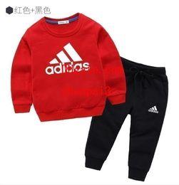 Добавить долго онлайн-Детская одежда Модный набор из 2 предметов Одежда для малышей Верхняя одежда для мальчиков с длинным рукавом + Брюки Спортивная одежда Детская спортивная одежда add-idas6