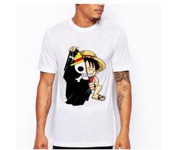 Anime de uma peça camiseta on-line-One Piece T Shirt Anime Japonês Camisa Dos Homens T-shirt Luffy T Camisas Roupas Camiseta Impresso Camiseta de Manga Curta Top Tee