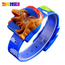 Rote uhren für jungen online-SKMEI Creative Dinosaur Carton Kinderuhren Mode Interessante Kinderuhr Blau Rot Grils und Boys Montre Enfan