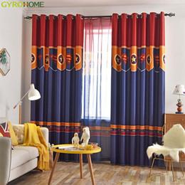 2019 vorhang falten stile Schild vorhänge vorhang für jungen schlafzimmer wohnzimmer cartoon vorhänge