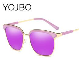 gafas de sol de bloque Rebajas YOJBO Lentes de sol polarizadas espejo gafas vintage de alta definición para las mujeres de lujo retro Eyewear UV400 de bloqueo deslumbramiento de alta calidad