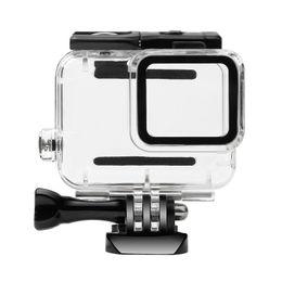 cámara de la casa blanca Rebajas Funda protectora a prueba de agua de la carcasa de buceo 30 m Cubierta protectora para GoPro Hero 7 blanco / versión astilla con tapa de lente de vidrio (no con cámara)