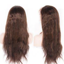 Base de soie pleine perruque de lacet préplucked longue perruque droite brésilienne 4x4 soie perruque de cheveux humains avec bébé cheveux Ping ? partir de fabricateur