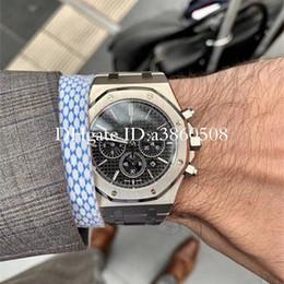 Ouro de qualidade masculina on-line-Novas dos homens de luxo de topo Assista Rose Gold Stanless aço 42 milímetros de alta qualidade VK Chronograph Movimento Quartz Esportes Homens Relógios