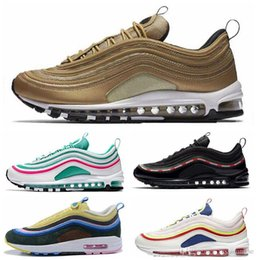 9bcb34f9073c7e Max 97 casual shoes Triple white black yellow Og Metallic Gold Silver  Bullet Men trainer Air 97s Women footwear sneakers 97 max promotion