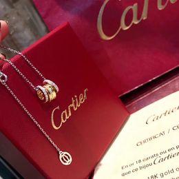 C maison en Ligne-C Home Silver Gold Diamond Collier De Mode Superbe Bling Bling Diamant Ras Du Cou Collier De Femmes Avec Boîte