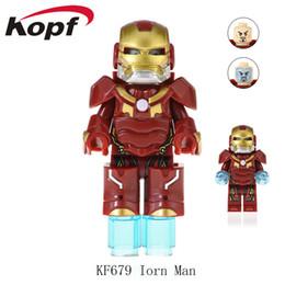 desenhos animados de super heróis Desconto Super heróis da Marvel Infinito Guerra Guardiões da Galáxia Vingadores Filmes Videogames Blocos de Brinquedos Figuras Kopf Blocos KF679
