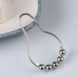 Nickel-clips online-12 teile / satz poliert fleck nickel 5 rollerball duschbad bad vorhang ring clip leicht gleiten haken silber metall duschvorhang haken