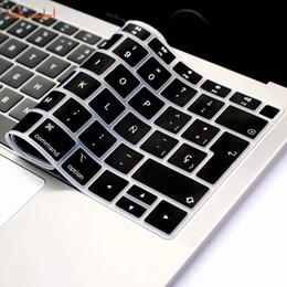 langue française Promotion Peau de couverture de clavier espagnol français anglais anglais langue pour nouveau MacBook