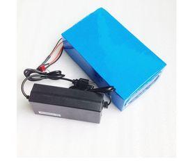 Ebike 36v bateria li ion on-line-NÓS UE NENHUM IMPOSTO 36 V 24AH 1500 W E-Bicicleta Li-ion Bateria 36 V 24AH Uso Da Bateria Ebike para Samsung 18650 célula Com 42 V 2A Carregador 50A BMS