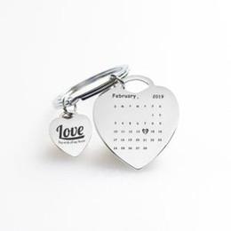 Amantes llaveros personalizados online-Pareja llavero Amantes de la moda llaveros impresión de la letra Te amo con todo mi corazón Encantos llavero para el regalo de San Valentín GGA1526