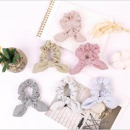 Fabricante de la venda online-1 unid mujeres diademas de rayas de verano scrunchie lazo de cuerda de pelo cintas para el cabello fabricante de cola de caballo braider diademas accesorios