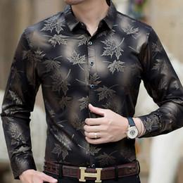 2019 кленовый лист одежды 2019 новый социальный с длинным рукавом кленовый лист дизайнерские рубашки мужчины slim fit винтаж моды мужская рубашка мужское платье трикотаж одежда