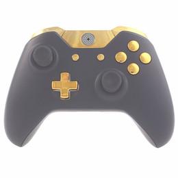 Xbox one buttons on-line-Reparação de peças de reposição cromo ouro abxy dpad gatilhos botões completos set kits controlador mod para xbox one xboxone 16 pçs / set