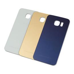 copertura posteriore originale in vetro Sconti Copertura originale di vetro per il caso di Samsung Galaxy S6 bordo più la copertura posteriore della batteria sportello posteriore Housing S6 bordo per SAMSUNG S6 di vetro posteriore