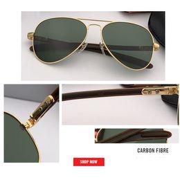 Sonnenbrille kohlenstoff online-2019 new top marke männer sonnenbrille uv400 kohlefaser beine driving pilot sonnenbrille brillen oculos de sol lunettes de soleil homme 8307