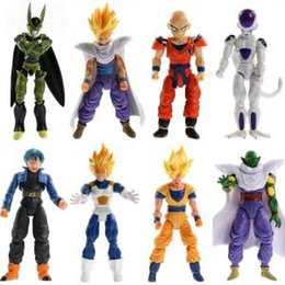 2019 anime mobile Dragon Ball Figure 8 pz / set Cartoon Anime Dragonball Z Giunto Mobile Action Figure Giocattoli Novità Articoli 20 set OOA6136 sconti anime mobile
