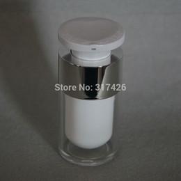 airless-serum kosmetik-flaschen Rabatt 15ml Schlosskopf-Acryl-Airless-Vakuumpumpen-Lotionsflasche für Serum / Lotion / Emulsion / Foundation Cosmetic Container