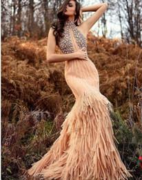 Robe de soiree longue robe sans manches perler cristal Tulle plume col haut sirene moderne classique approprie pour toutes les tailles Belle 580 ? partir de fabricateur