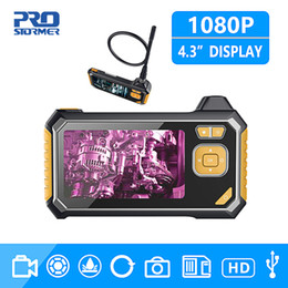 nissan fahrzeug scan-tool Rabatt 1080P HD 8mm Industrie Endoskop 4,3-Zoll-Auto-Reparatur-Inspektionskamera Endoscope Lithium-Batterie Schlange Fest Kamera