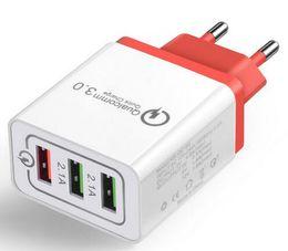 2019 cargadores inalámbricos baratos Universal 18 W USB Carga rápida 3.0 5 V 3A para Iphone 7 8 UE EE. UU. Enchufe del teléfono móvil Cargador rápido para Samsug s8 s9 Huawei