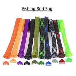 2018 Nouveau populaire canne à pêche sac protecteur PET tube de maille télescopique tige protecteur sac à main engins de pêche en gros ? partir de fabricateur