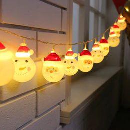 2020 luci di decorazione per i festival Santa Snowman decorazione di festival Luce di Natale String Plastic Window Lantern Sucker decorativo per le vacanze di Natale Decor sconti luci di decorazione per i festival