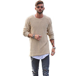 Canada Hommes Hommes Pull Automne Hiver Tricoté Lâche Jumper Homme Bleu Mince Hommes Pull Pulls Casual Masculino Jersey cheap double knit jersey Offre