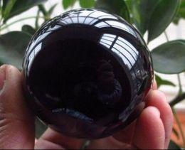 2019 supports en métal pour verre Boule de guérison sphère + support en verre de cristal magique noir asiatique de 60 mm supports en métal pour verre pas cher