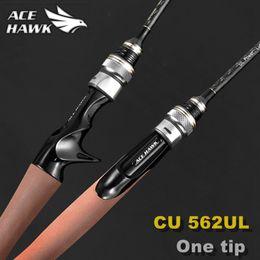 tige de poteau de fibre Promotion Promotion ACE HAWK 562 UL 1,67 m canne à pêche à la truite AUCUN profit fibre de carbone ultraléger Spinning pointe solide action rapide pôle