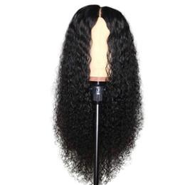 Perruques avant en lacet remy en Ligne-Perruque de cheveux bouclés, couleur naturelle, noeuds blanchis, perruques brésiliennes de cheveux remy avec dentelle