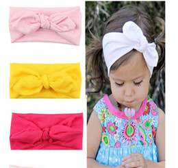 fasce per bambini regolabili Sconti 2019 Nuova fascia regolabile Big Bow Turban Top Knot Baby Wide Headwrap Baby Girls Accessori per capelli 8 colori