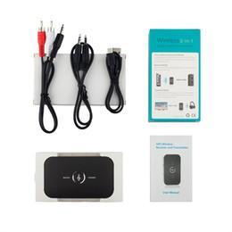 2019 atualização de caixa de tv android Adaptador de Áudio Bluetooth Sem Fio Bluetooth 4.1 Transmissor e Receptor 2-In-1 3.5mm Car Kit para TV / Sistema de Home Stereo Atacado