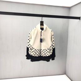 Chaqueta de bloque online-2020 otoño invierno Europa parís cálidos flor costura de edad abrigo de piel de cordero cremallera Colores remiendo del bloque del suéter con capucha de la chaqueta de invierno